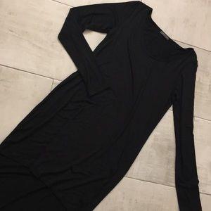 Black Long Sleeve Hi-Low Dress/Top sz L